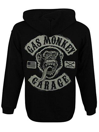 Gas Monkey Garage Logo Kapuzenjacke schwarz Schwarz