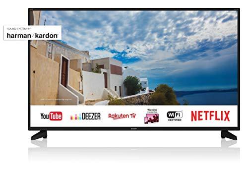 SHARP 4K Ultra HD Smart TV, 127 cm (50 Zoll), Harman/Kardon Soundsystem, HDR, Triple Tuner, LC-50UI7222E