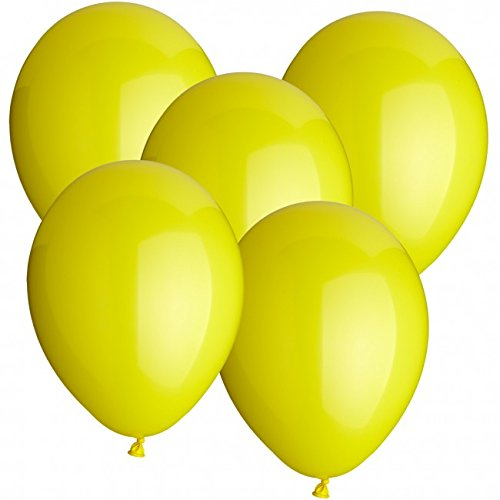 cm Farbe frei wählbar Ballons Helium Luftballon (Gelb) (Gelb Ballon)