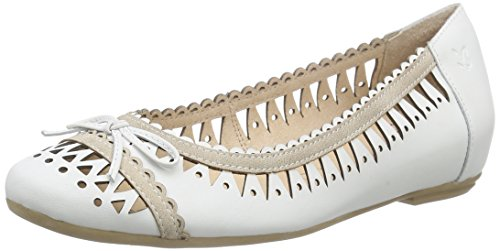Caprice22118 - Ballerine Donna, Bianco (White Comb 197), 38