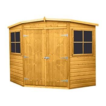 highwood corner shed honey brown