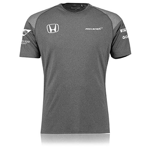 Remera de equipo McLaren Honda 2017, para hombres, gris