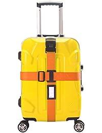 NUOLUX Croix Style valise bagages ceinture Stripe avec serrure à combinaison à 3 chiffres mot de passe