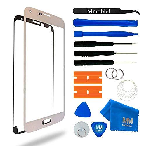 Mmobiel schermo tattile di ricambio per samsung galaxy s5 mini g800 series (bianco) incl kit con 11 attrezzi/pinzetta/adesivo pretagliati/panno microfibra/ventosa/cavo metallico