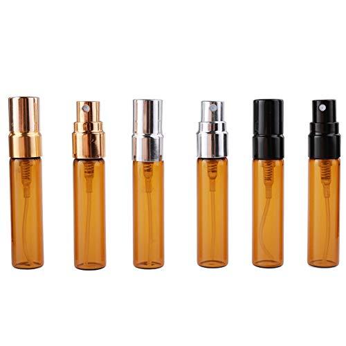 RSbottle Parfümflasche Parfum Flakon Parfümzerstäuber 4 STÜCKE * 5 ml braunes Glas sprühflasche Reise tragbare Make-up feuchtigkeitsflasche Dunkelbraun sprühflasche Trial leer
