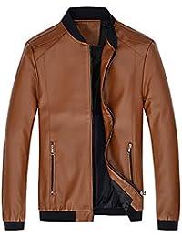 Homebaby Giacca in Pelle da Uomo Classico Slim Fit Cappotti Blazer Felpe  Elegante Caldo Impermeabile Giubbini 40d623ceca7