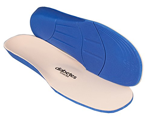 pro11Wellbeing Diabetiker Komfort Einlegesohlen für Behandlung von Plantarfasziitis Blau Blau (Diabetiker-komfort-schuhe)