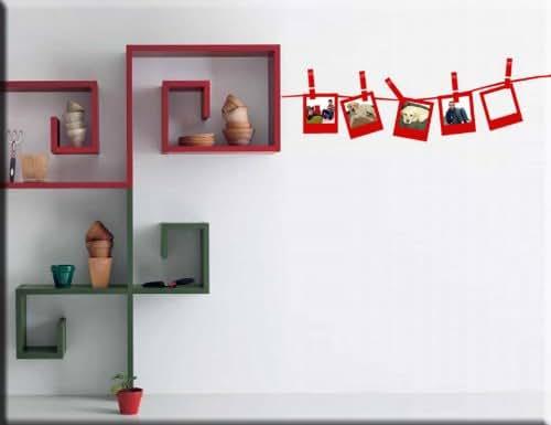 Adesivi murali cornici portafoto adesivi da parete cornici for Arredo casa amazon