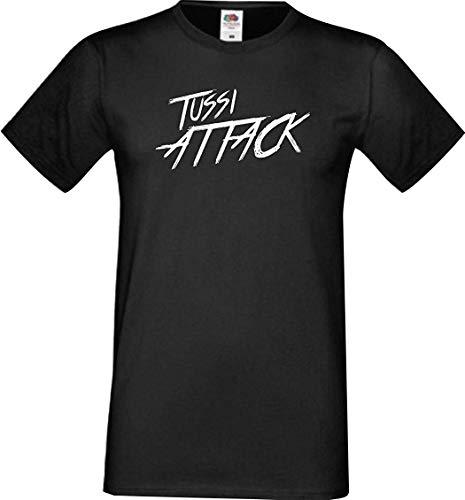 Shirtinstyle Männer T-Shirt Tussi Attack,schwarz, XXXL