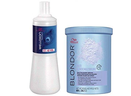 Wella Blondor Lightening (Wella Blondor Lightening Powder 800g + Welloxon 12% 1000ml)