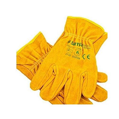 LXVY Kurze Gartenhandschuhe Ölbeständig Verschleißfeste PU-Handschuhe Arbeitsschutzhandschuhe Industriehandschuhe Gelb 20CM,XL