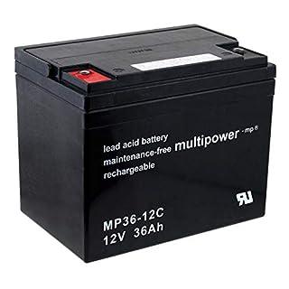 akku-net Bleiakku (multipower) MP36-12C zyklenfest, 12V, Lead-Acid
