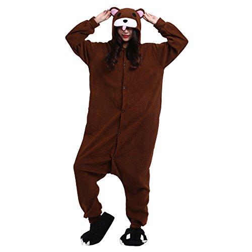 Casa Adulto Kigurumi - Unisex Pigiama Anime Onesie Cosplay Halloween Costume Cartone Animale Pigiamas Orso bruno L