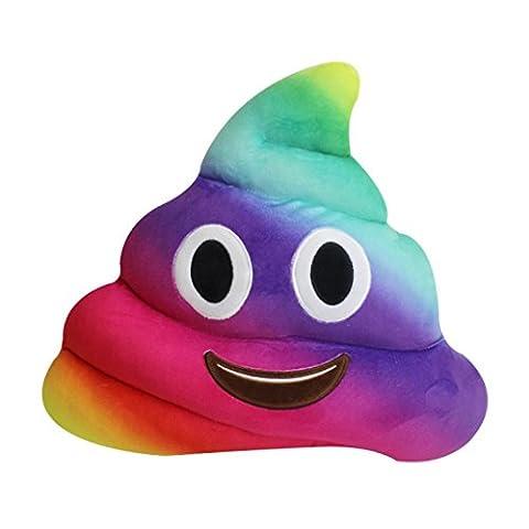 Beauté Top amusant emoji émoticônes Coussin coeur Yeux Poo Forme Oreiller poupée jouet Cadeau