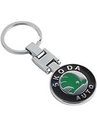 Gratitude Skoda Logo Double-Sided Metallic Keychain / Key Chain / Keyring / Key Ring