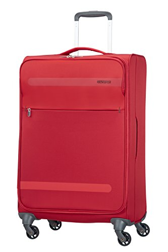 American Tourister Herolite Super Light Spinner Valigia, 67 cm, 68 litri, Formula Red