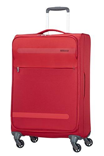 American tourister herolite super light spinner valigia, 67 cm, 68 litri, formula red