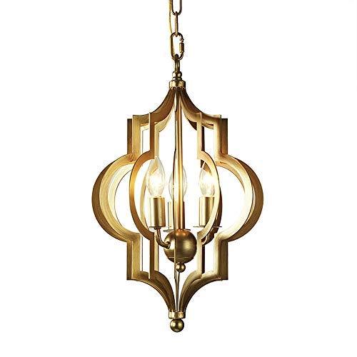 Lila Flamme Schatten (New Retro Schmiedeeisen Aufkleber Goldfolie Kreative Hängende Lampen,Drei Flammen Kerze Modellierung Persönlichkeit Kronleuchter, Geeignet Für Die Installation Von Edison Retro Glühbirn)