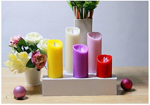 Kiki Monkey 6pcs Multicolor Opcional velas LED para Decoración, fija, bodas con pilas