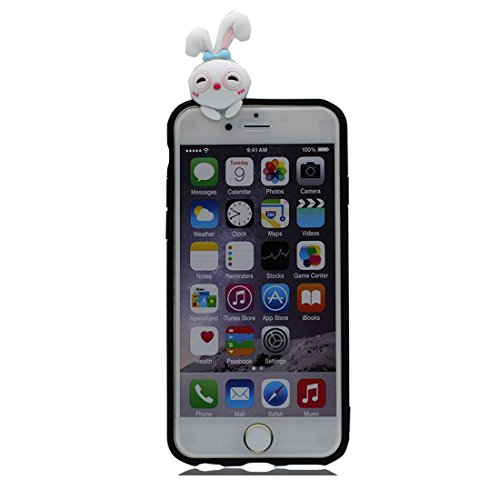 iPhone 7 Plus Custodia, iPhone 7 Plus Copertura, TPU flessibile morbido durevole Tutto il corpo di protezione di modo Cover, Shock Graffi Resistenti - 3D Cartoon Case Shell Shell Panda evidente Color 7