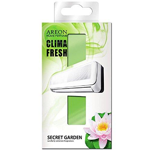 AREON Clima Fresh Ambientador Casa Jardín Secreto Aire Acondicionado Verde Original Hogar Salón Oficina Tienda Olor (Secret Garden Pack de 1)