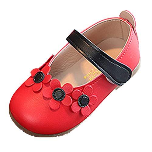 Enfants Flat Princess Chaussures Fille Semelles Souples Mary Jane Ballerine Floral Décor Chaussures en Cuir