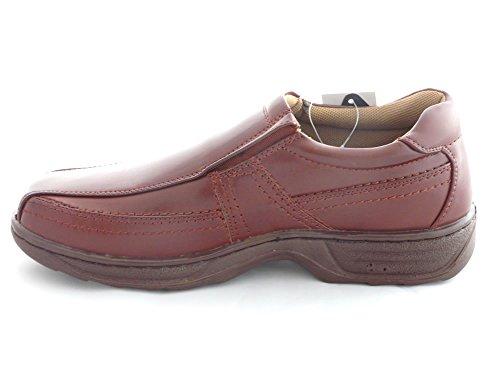 LargChaussures d'homme, Doublé de Cuir, Mocassins, Chaussures à Lacets et Chaussures à Scratch - Large Marron Mocassins