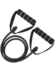 TenYid 1.4m Multifonctionnel Bande de Résistance Élastique Musculation pour Sport Home Gym Yoga Pilates Fitness d'exercice