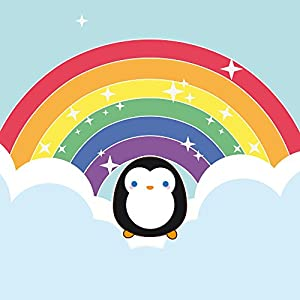 DeinDesign Nintendo Wii Case Skin Sticker aus Vinyl-Folie Aufkleber Regenbogen Pinguin Wolken