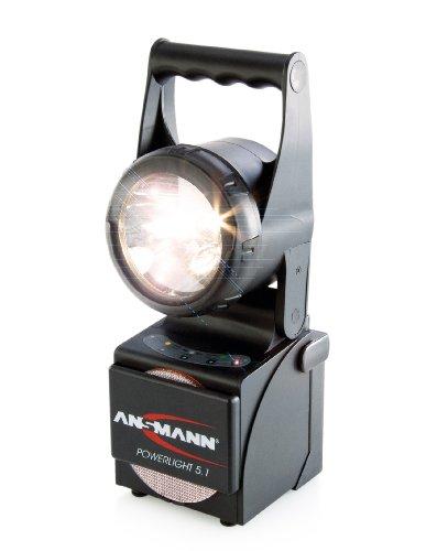 Preisvergleich Produktbild ANSMANN Powerlight 5.1 Arbeitsscheinwerfer 5W - Robuste LED Arbeitsleuchte als Werkstattleuchte oder Notbeleuchtung bei Stromausfall - Handleuchte IP65 stoßfestes & wassergeschütztes Gehäuse