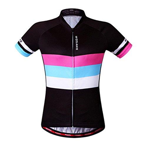 wosawe Damen Radhose Short Sleeve Jersey (Equipe Cycling Bib)