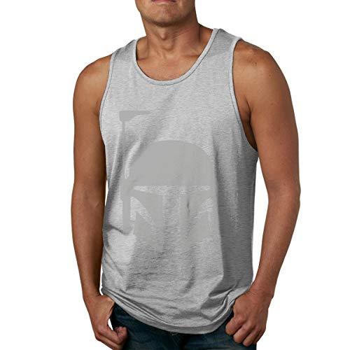 Abigails Home Boba Fett 2 Herren Tank Top Ärmellose Shirts T-Shirt Basketball Sport T-Shirt T-Shirts Outdoor Fitness(3XL,Grau) -