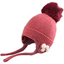 Mitlfuny Niños Niñas Sombreros de Punto Gruesa para Bebé Invierno Caliente  Gorro con Orejeras de Escorpion 5f387b3219b