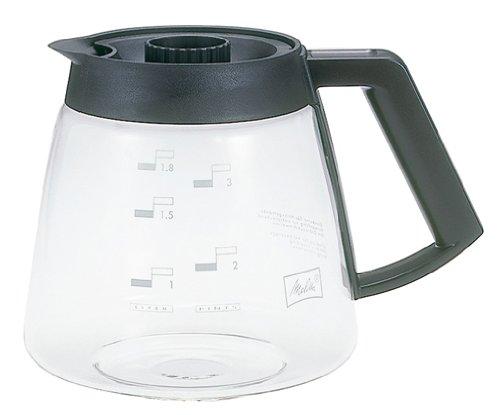 Melitta Glaskanne, Ersatz- Kaffeekanne für Filterkaffeemaschinen, Borosilikatglas, 1,8 l -