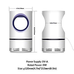 HiGoing 2 Lampe, 【Upgrade】 Tragbarer USB-Trap Bug Zapper Fliegenvernichter von Photokatalytic Ultraviolet, mit starkem Saugventilator, sicher für Innen- und Außenbereich, Weiß