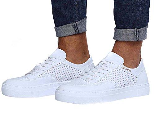 Leif Nelson Herren Schuhe Freizeitschuhe elegant Winter Sommer Freizeit Schuhe Männer Sneakers Sportschuhe Laufschuhe Halbschuhe LN154; Größe 43, Weiß