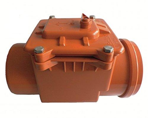 Rückstausicherung-Rückstauverschluss-Rückstauklappe: Ø DN 160/ 150 (160/150 mm), verriegelbare Rückstauklappe mit Edelstahleinlage für 150er Rohr