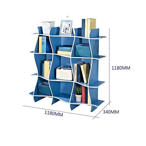 MDD Regal Bücherregal Family Source Toy Storage Unit Schlafzimmer Spielzimmer Regal Platzsparend und einfach zu installieren,Schwarz -