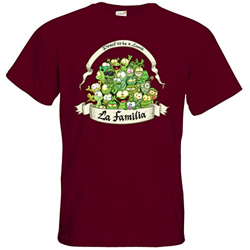 getshirts - Gronkh Official Merchandising - T-Shirt - LaFamilia Burgundy