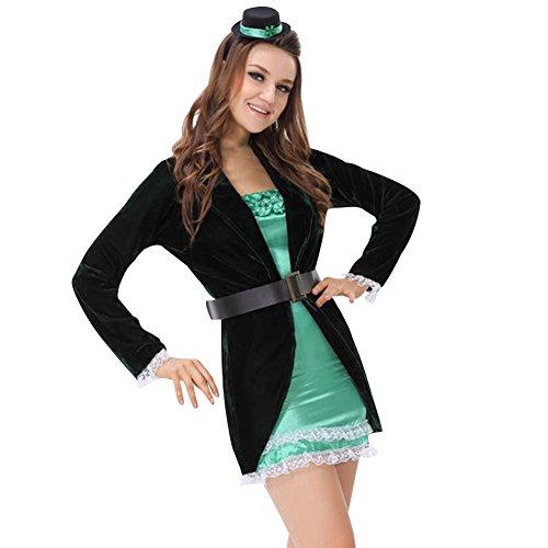 Imagen de m&a disfraz domadora de circo carnaval halloween negro verde s/m