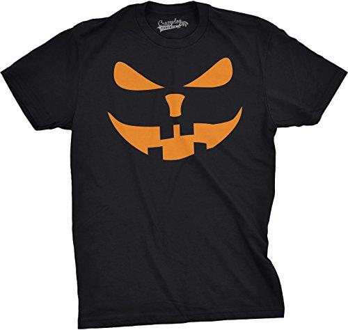 Crazy Dog Tshirts - Mens Buck Teeth Pumpkin Face Funny Fall Halloween Spooky T Shirt (Black) 5XL - Herren - 5XL