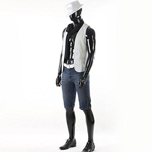 190CM Schaufensterpuppe Mannequin Lack Schwarz Männlich Schaufensterfigur