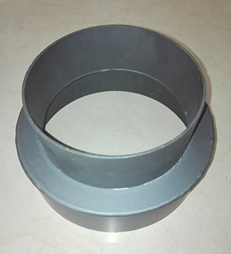 Duratherm réducteur pour pipeline Ø150 à Ø130 tuyaux de combustion de poêle de 1,8 mm d'épaisseur.