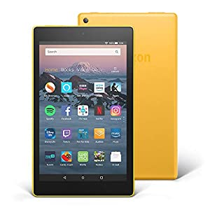 """Fire HD 8 Tablet with Alexa, 8"""" HD Display, 16 GB, Yellow - with Special Offers"""