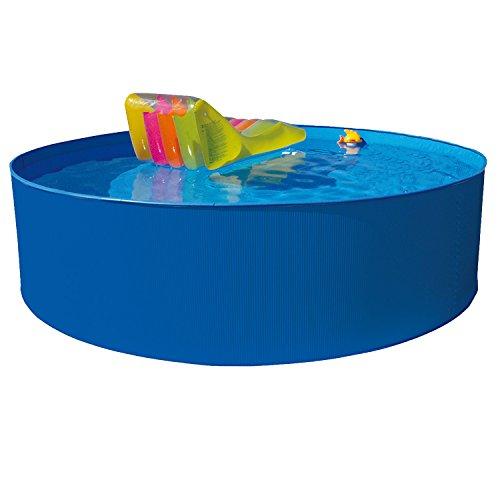 Hecht Stahl-Pool Bluesea Rund-Becken Stahl-Wand Swimmingpool (360x120 cm)