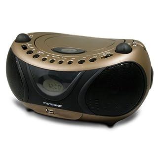 Metronic 477106 CD-MP3-Radio Kupfer/Schwarz