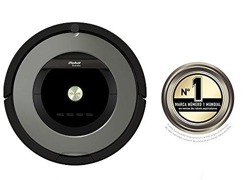 iRobot Roomba 865 Staubsaugroboter (fortschrittliche Reinigungsleistung, Reinigung nach Ihrem Zeitplan, ideal bei Tierhaaren) grau -