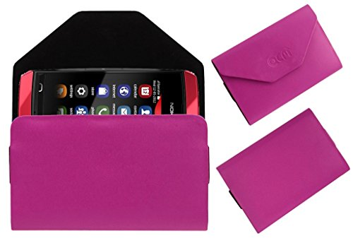 Acm Premium Pouch Case For Nokia Asha 305 Flip Flap Cover Holder Pink  available at amazon for Rs.179