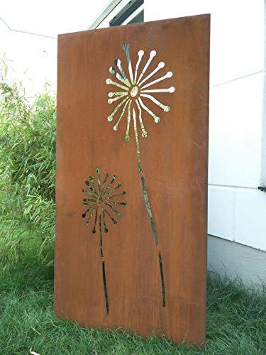 Zen Man Edelrost Garten Sichtschutz aus Metall Rost Gartenzaun Gartendeko edelrost Sichtschutzwand H180*50cm 031654-4