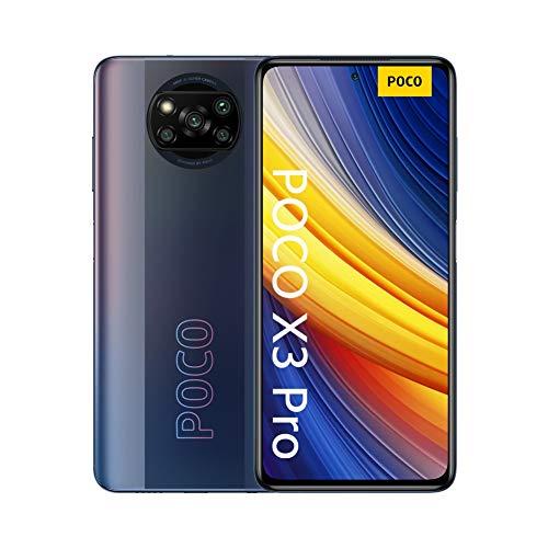 """Oferta de Xiaomi POCO X3 Pro, Smartphone 8+256 GB, 6,67"""" 120 Hz FHD+ DotDisplay, Snapdragon 860, cámara cuádruple de 48 MP, 5160 mAh, Negro Fantasma (versión ES/PT), incluye auriculares Mi"""